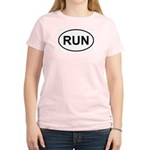 Run Runner Running Track Oval Women's Light T-Shir
