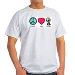 Peace Love & Labs Ash Grey T-Shirt