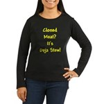 Cloned Meat Deja Women's Long Sleeve Brown T-Shirt