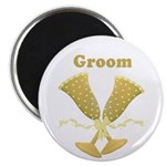 "Golden Groom 2.25"" Magnet (100 pack)"