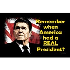 A REAL President Rectangle Sticker