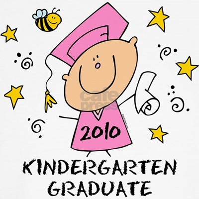 Cute kindergarten 2010 design featuring a cartoon girl, a bumble bee and