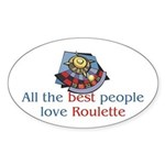 Roulette Oval Sticker