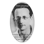 Erwin Schrodinger: Truth Oval Sticker
