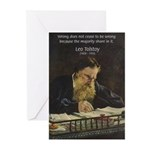 Leo Tolstoy: True Philosophy Greeting Cards (Packa
