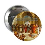 """Raphael School of Athens 2.25"""" Button (10 pack)"""