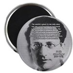 Erwin Schrodinger One Reality Magnet