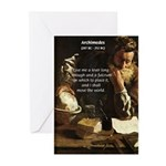 Greek Mathematician: Archimedes Greeting Cards (Pa