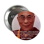 """His Holiness the Dalai Lama 2.25"""" Button (10 pack)"""