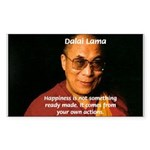 The Dalai Lama Rectangle Sticker