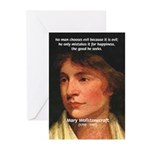 Feminist Mary Wollstonecraft Greeting Cards (Packa