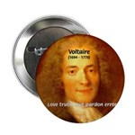 """French Philosopher: Voltaire 2.25"""" Button (100 pac"""
