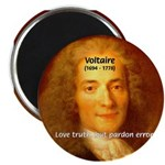"""French Philosopher: Voltaire 2.25"""" Magnet (100 pac"""