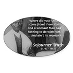 Lincoln with Sojourner Truth Oval Sticker