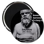 "Socrates: Wisdom from Leisure 2.25"" Magnet (100 pa"