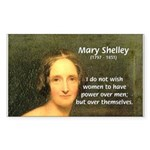 Novelist Mary Shelley Rectangle Sticker