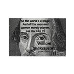 Playwright William Shakespeare Rectangle Magnet