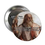 "Music and Plato 2.25"" Button (100 pack)"