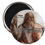 "Music and Plato 2.25"" Magnet (100 pack)"