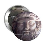 "Plato: Humour Beer Wisdom 2.25"" Button (100 pack)"