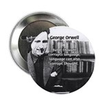 "George Orwell: Language Thought 2.25"" Button (100"