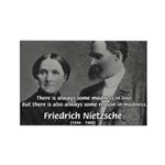 Nietzsche Love Madness Reason Rectangle Magnet (10