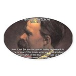 Master of Prose: Nietzsche Oval Sticker