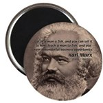 "History Analyst Karl Marx 2.25"" Magnet (10 pack)"