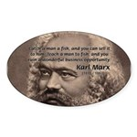 History Analyst Karl Marx Oval Sticker