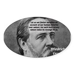 Nature versus Humanity: Engels Oval Sticker