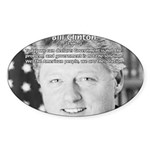 Government Bill Clinton Oval Sticker