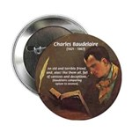 French Poets Baudelaire Button