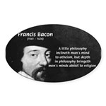 Philosopher Francis Bacon Oval Sticker