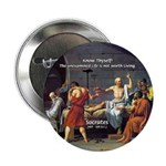 "Know Thyself Socrates Quote 2.25"" Button (10 pack)"