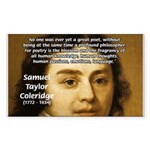 Samuel Taylor Coleridge Poet Rectangle Sticker