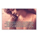 Sexuality, Beauty Nietzsche Rectangle Sticker