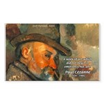 Cezanne Emotion Artistic Quote Sticker (Rectangula