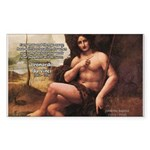 Leonardo da Vinci Quote Rectangle Sticker
