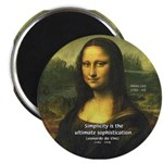 Mona Lisa: Da Vinci Quote Magnet