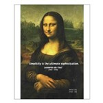 Mona Lisa: Da Vinci Quote Small Poster