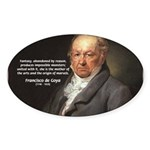 Goya Fantasy Monster Quote Oval Sticker