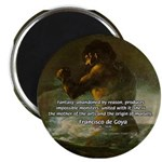 "Goya Colossus Fantasy Quote 2.25"" Magnet (10 pack)"