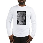 David with Michelangelo Quote Long Sleeve T-Shirt