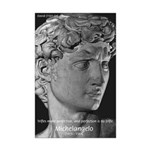 David with Michelangelo Quote Mini Poster Print
