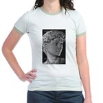 David with Michelangelo Quote Jr. Ringer T-Shirt