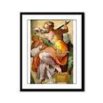 Words on Genius Michelangelo Framed Panel Print