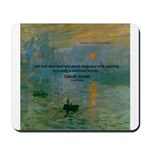 Claude Monet Torture Art Mousepad