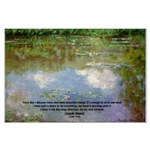 Monet Painting: Beauty Quote Large Poster
