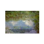 Monet Painting: Beauty Quote Rectangle Magnet (100