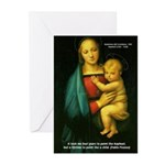 Raphael Madonna Painting Greeting Cards (Package o